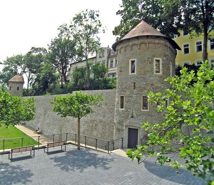 Stadtbefestigung im Bereich Unterer Wall in Schweinfurt