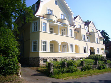 Außenansicht Villa Füglein, in der das Deutsche Fahrradmuseum untergebracht ist