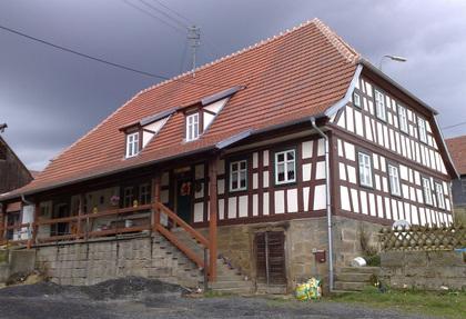 Außenansicht Bauernhof in Untermerzbach-Buch