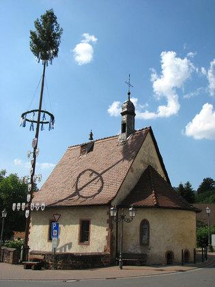 Außenansicht Valentinuskapelle in Eichenbühl
