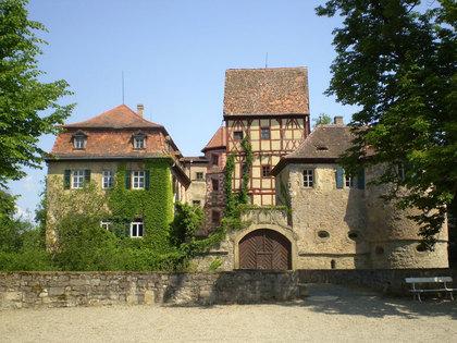 Ansicht Haupteingang Wasserschloss in Unsleben