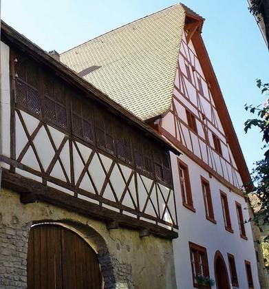 Außenansicht des Anwesens in der Langengasse in Sulzfeld am Main