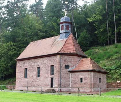 Außenansicht Kapelle Sankt Wendelin und Sankt Nikolaus in Breitenbach Markt Kirchzell