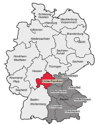 Unterfranken in Deutschland