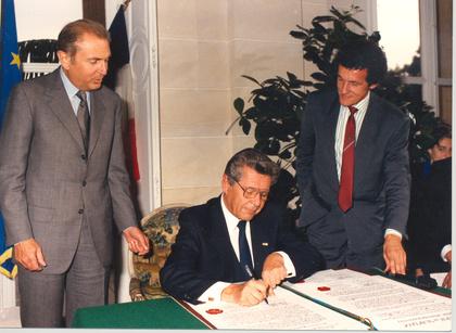Dr Gerstner und Michel d'Ornano