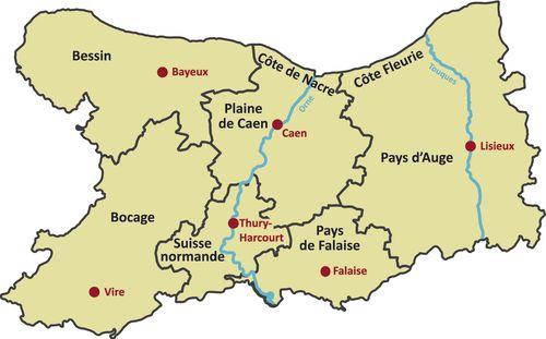 Karte Calvados