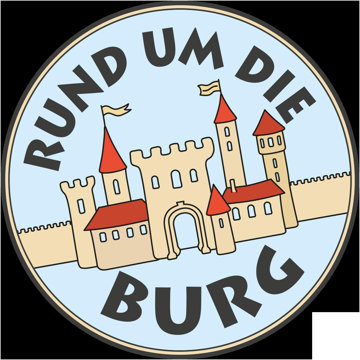 Ausstellung Rund um die Burg Wort-Bild-Marke Button